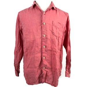 Tommy Bahama Men's Orange Linen Shirt